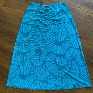 Tommy Bahama teal and turquoise maxi skirt XL